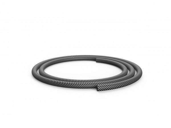 Silikonschlauch - Carbon Optik - Weiß